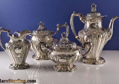 Gorham Sterling Silver Chantilly Tea Set