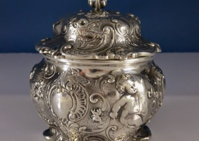 Gorham Sterling Silver Cherub Tea Caddy