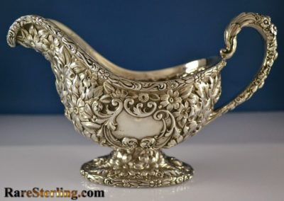 Gorham Sterling Silver Repousse Gravy Boat