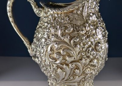 Gorham Sterling Silver Repousse Water Pitcher