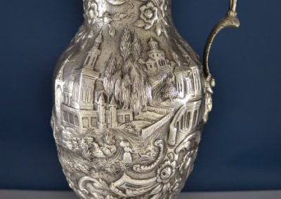 Kirk And Son Sterling Silver Castle Landscape Wine Ewer