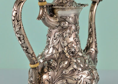 Kirk And Son Sterling Silver Repousse Coffee Pot