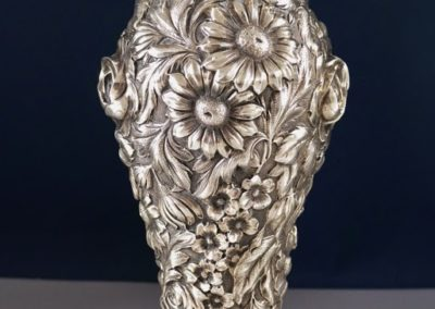 Kirk And Son Sterling Silver Repousse Rose Vase