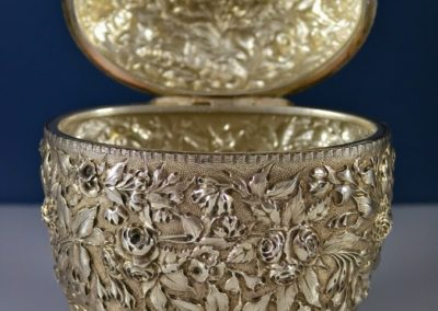 Kirk And Son Sterling Silver Repousse Tea Caddy