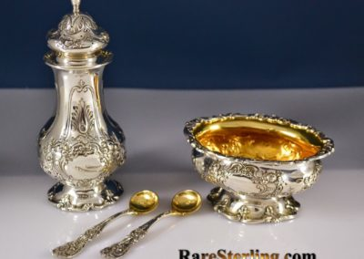 Reed And Barton Sterling Silver Francis Open Salt Pepper