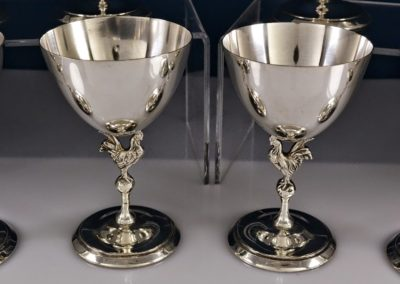Reed And Barton Sterling Silver Rooster Martini Cups