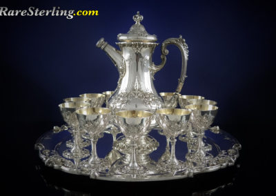 Reed and Barton Francis Sterling Silver Martini Set and Cups