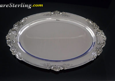 Reed and Barton Francis Sterling Silver Oval Tray Large