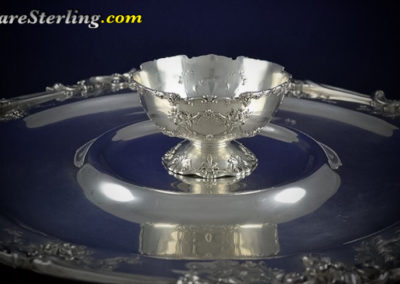 Reed and Barton Francis Sterling Silver Platter with Bowl