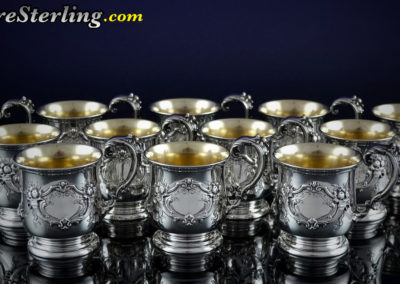 Reed and Barton Francis Sterling Silver Punch Bowl Cups