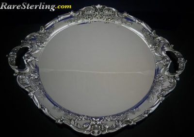 Reed and Barton Francis Sterling Silver Punch Bowl Tray