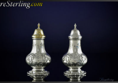 Reed and Barton Francis Sterling Silver Salt and Pepper Shakers