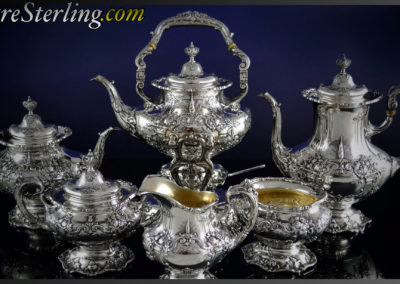 Reed and Barton Francis Sterling Silver Tea Set 6 Piece