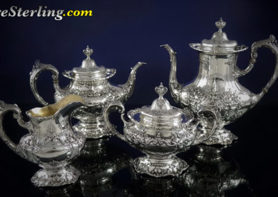 Reed and Barton Francis Sterling Silver Tea Set 4 Piece