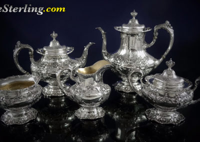 Reed and Barton Francis Sterling Silver Tea Set 5 Piece