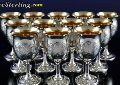 Reed and Barton Francis Sterling Silver Water Goblets
