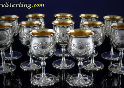 Reed and Barton Francis Sterling Silver Water Goblets #570A