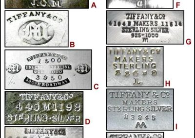 Tiffany Sterling Silver Maker Marks